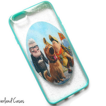 Disney UP Phone Case Glitter iPhone 6 5 5s 4 Phone Case Cover Samsung Galaxy s5 s4 Case