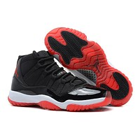 Air Jordan Retro 11 Xi Black Red Bred Basketball Shoes Running Sneakers | Best Deal Online
