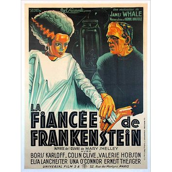 Vintage Wife of Frankenstein French Release Movie Poster// Classic Movie Poster//Movie Poster//Poster Reprint//Home Decor//Horror