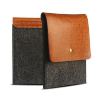 Laptop Case for Kindle Paperwhite 1/2/3 Voyage AKR Leather Wool Felt Sleeve Light Free shipping