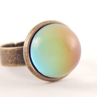 Mood Ring In Adjustable Antique Bronze