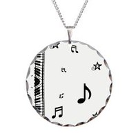 Piano and Music Notes Necklace> Piano Musical Notes> One Stop Gift Shop