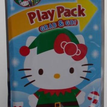 Set 6 Hello Kitty Play Pack Grab & Go Christmas Coloring Book Crayons Stickers