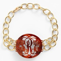 Moon and Lola 'Annabel' Medium Oval Personalized Monogram Bracelet