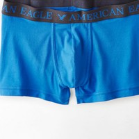 AEO Men's Solid Low Rise Trunk (Grecian Blue)