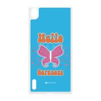 Sassy - Hello Gorgeous 10433 White Hard Plastic Case for Huawei P7 by Sassy Slang