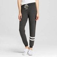 Women's Leg Striped Jogger Charcoal Heather - L.O.L. Vintage