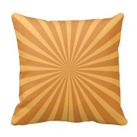 Cool Burnt Orange Starburst Fun Striped Pattern