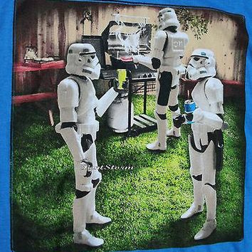 Licensed cool Disney Star Wars Stormtrooper Backyard Barbeque Cook Out Men's 2X Tee Shirt T