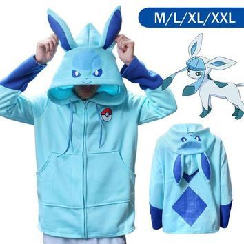 Anime Pocket Monster Eevee Pikachu Hoodies Sweatshirts Cosplay Costumes Hoodies Pokemon Sweater