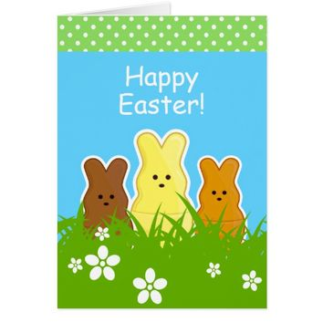 Cute Easter Bunnies Greeting Card