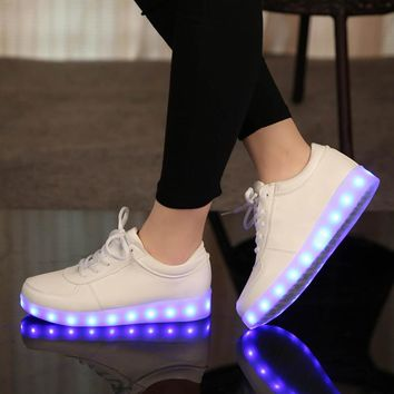 Fashion Online Fashion Glowing Sneakers Usb Charging Shoes Led Slippers Do With Lights Up Colorful Led Tenis Simulation Kids Luminous Sneakers