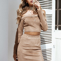 Java Suede Skirt - Bottoms by Sabo Skirt