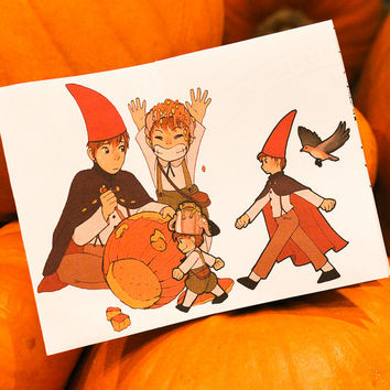 Over the Garden Wall - Mini Art Book mini zine