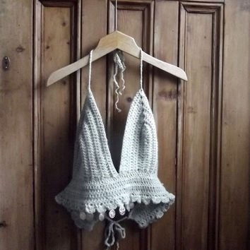 Festival Boho Crop Bralette Top New Midriff Bustier Sexy Crochet Skater Indie Cropped S / Dolly Topsy Etsy UK