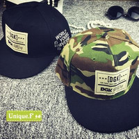 Brand new DGK camouflage snapback hats adjustable