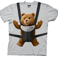 Ted Bear Baby Bjorn Carrier Ice Grey Mens T-shirt