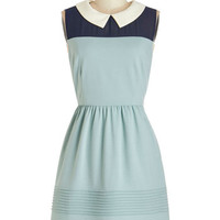 ModCloth Vintage Inspired Mid-length Sleeveless A-line Whatever You Sage Dress