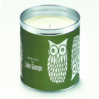 Kate's Nordic Owls Green Candle