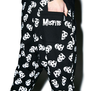 Iron Fist Misfits Fiend Skull Harem Pants Black