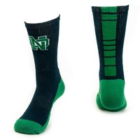 Mojo Notre Dame Fighting Irish Champ 1/2-Cushion Performance Crew Socks - Women, Size: 9-11 (Blue)