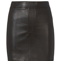 Helmut Lang Black Stretch Leather Skirt - INTERMIX®
