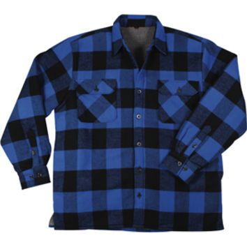 Blue/Black Buffalo Plaid - Sherpa Lined Flannel Jacket - Army Navy Store
