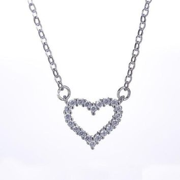 ca PEAPTM4 Jewelry Shiny Stylish Gift New Arrival 925 Silver Simple Design Design Diamonds Box Necklace [8026162567]