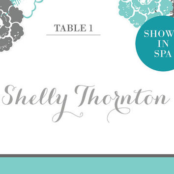 Printable Customized Wedding Set: Name Place Card