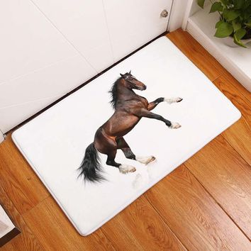 Autumn Fall welcome door mat doormat Smiry 40*60cm Nordic Animals Waterproof Decorative Stair Mats Snow Wild Horse Carpets Anti Slip Living Room Entrance  AT_76_7
