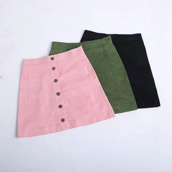 High Waist Lights Slim Skirt [7086230657]