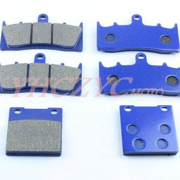 For KAWASAKI ZX7R ZX7-R 96-03 motorcycle front and rear brake pads set Motorcycle Parts