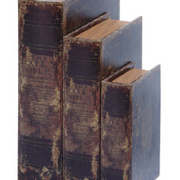 Faux Book Box Set With Ancient Holy Bible Theme