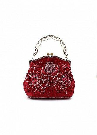 Buy discount Vintage Red Handmade Beads Evening Handbags/ Clutches With Embroidery at dressilyme.com