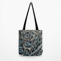 Abstract V-Twin Tote Bag by Fringeman