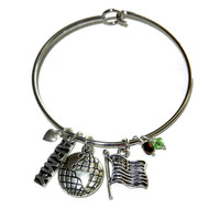 United States Army Charm Bangle Bracelet