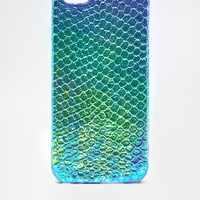 ASOS | ASOS Holographic Snake iPhone 5 Case at ASOS