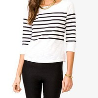 Essential Boat Neck Striped Top