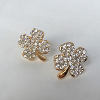 Just My Luck Clover Earrings