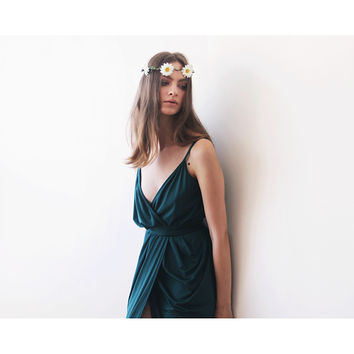 Emerald Green Bridesmaids Tulip Maxi Dress