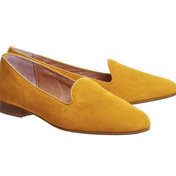 Office Dotty Slipper Cut Loafers Mustard Nubuck - Flats