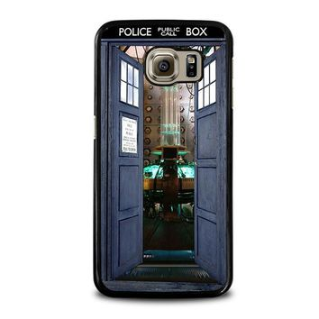 dr who tardis open the door samsung galaxy s6 case cover  number 1