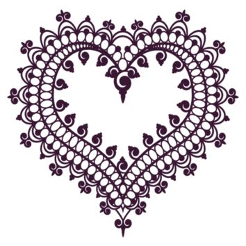 Henna Heart Temporary Tattoo