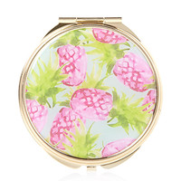 FOREVER 21 Passion Pineapple Compact Mirror Blue/Pink One
