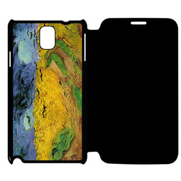 Van Gogh Wheat Fields Samsung Galaxy Note 4 Flip Case Cover