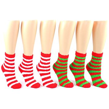 Fuzzy Christmas Socks - 24 Units
