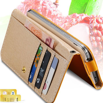Universal General Wallet Pouch PU Leather Mini Phone Bag Case For iphone 7 6 6s 4S 5S Cover Z3 Nexus 4 5 P6 A3 2016 Case Bags
