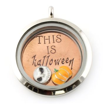 This is Halloween Floating Locket Set - Spiffing Jewelry