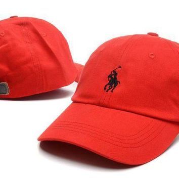Polo 9fifty Leather Buttons Cap Red