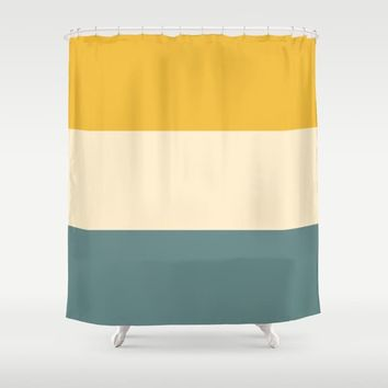 Sunshower Shower Curtain by spaceandlines